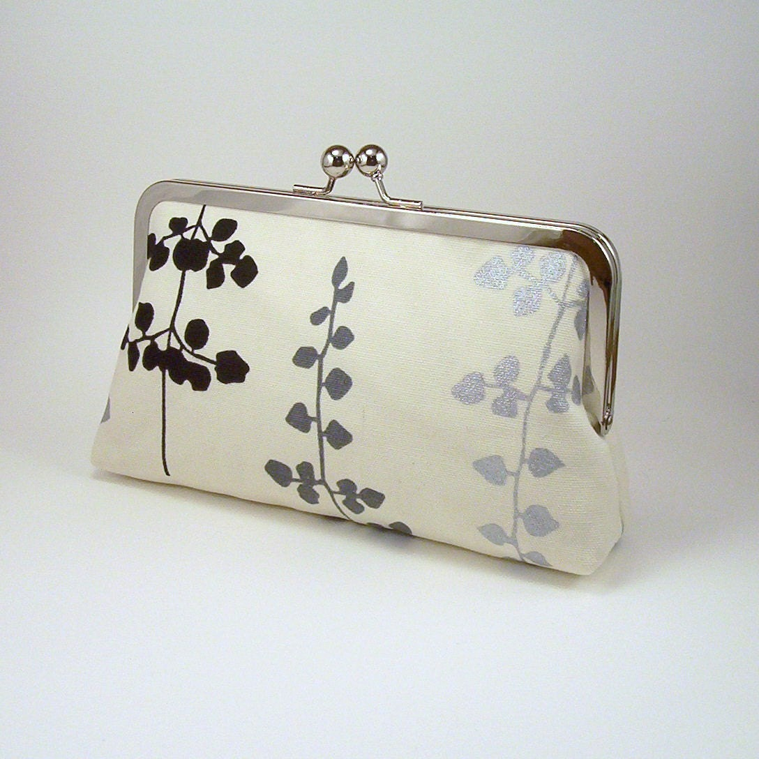 Floating Leaves - Silk-lined Clutch