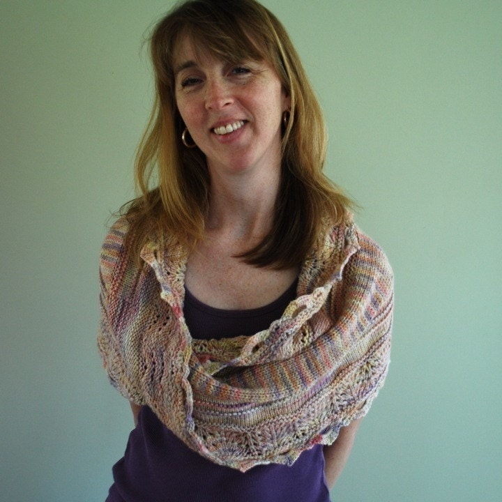Modern Quilt Wrap - Knitting Daily