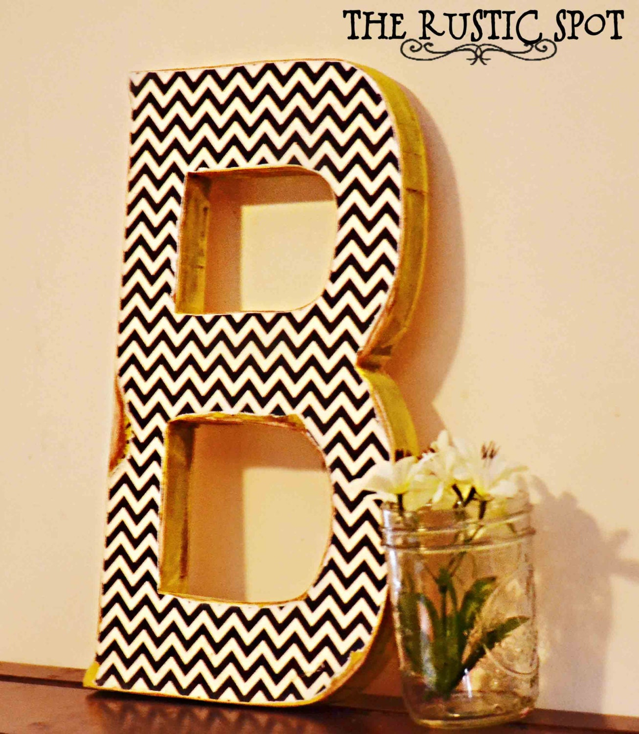 Unavailable listing on etsy for Big wooden letter b