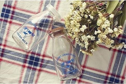 Clear Milk Glass Bottle -180ml
