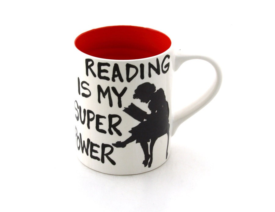 Teacher Gift Reading is my Super power mug