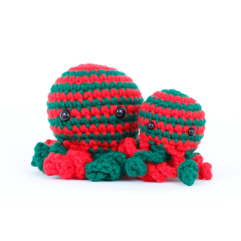 Team FEST Yule Basket Giveaway RESERVED - Christmas Octopus Amigurumi - alyssacritters