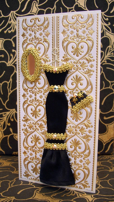 Anna Personalised Dress Card / Handmade Greeting Card