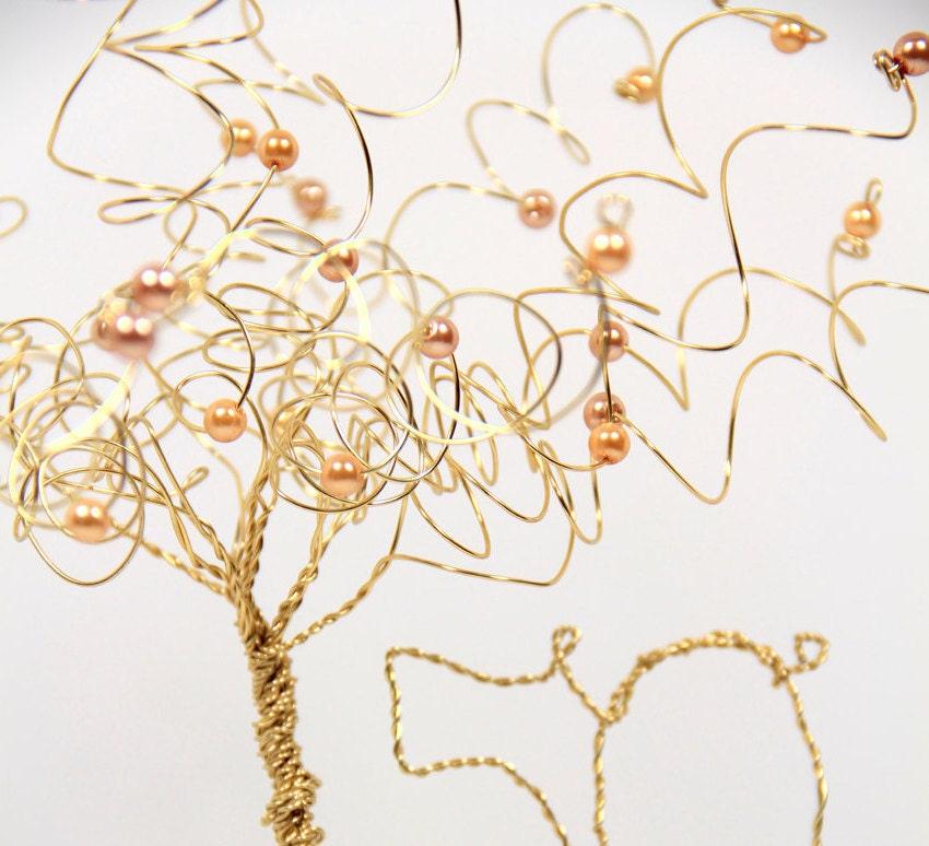 50th Anniversary Cake Topper Gold Tree Sculpture - NouveauTique
