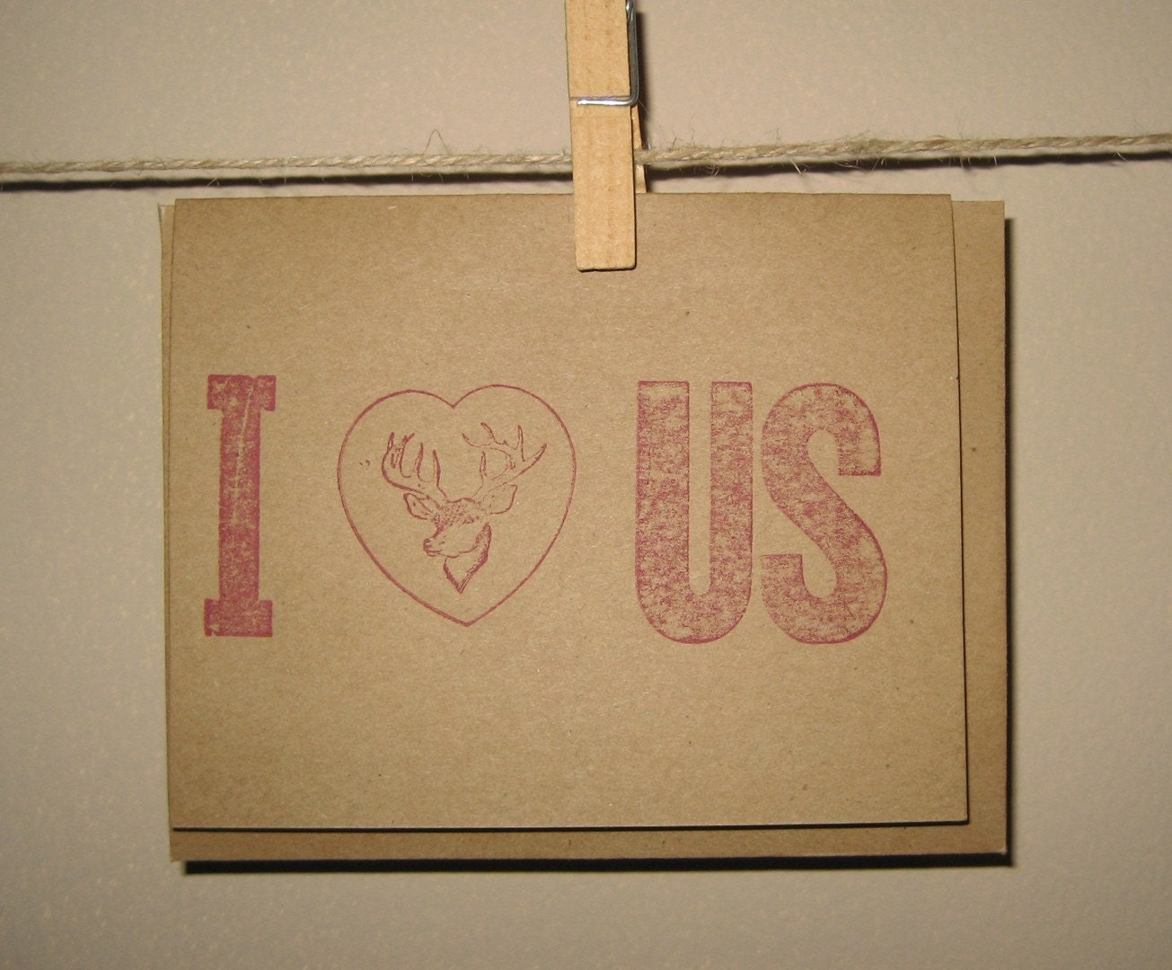 I Heart Us Letterpress Valentine Card