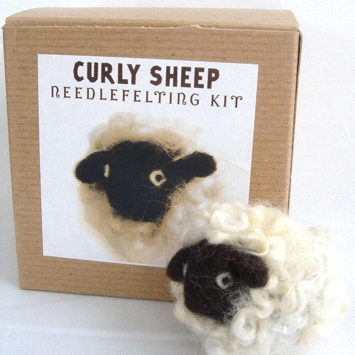 Curly Sheep Needle Felting Kit