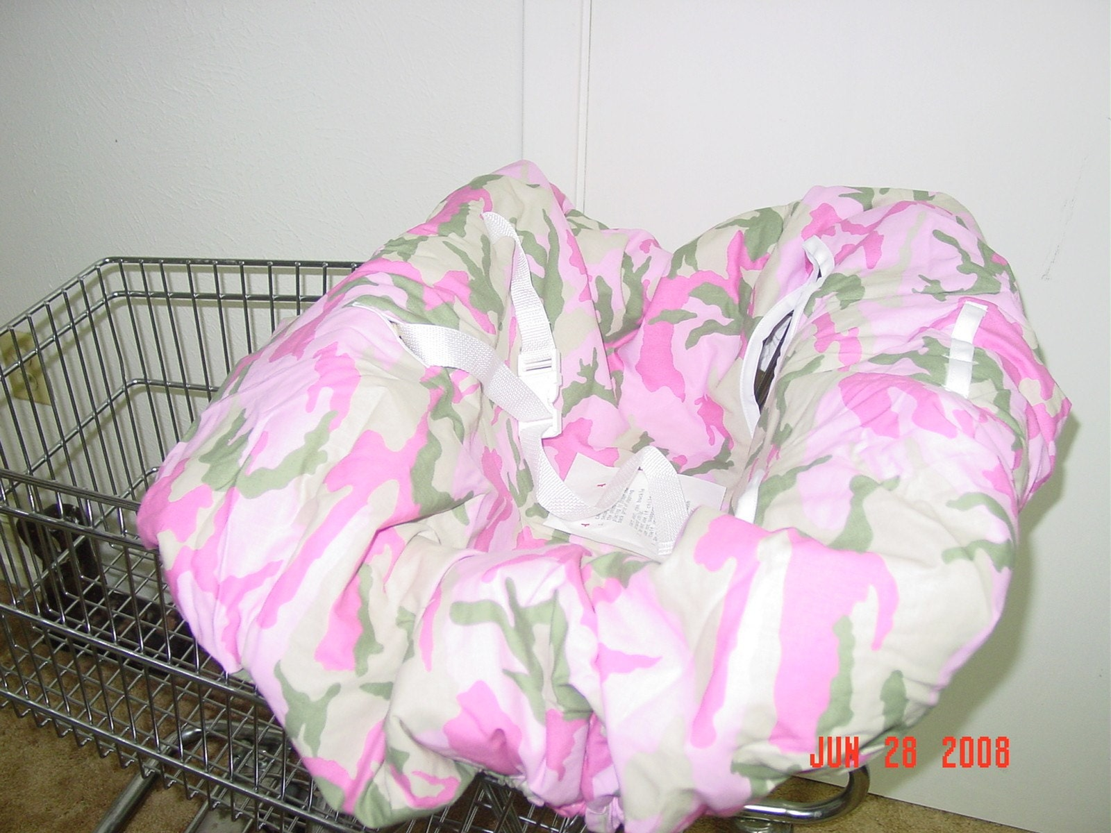 Pink Camo Shopping Cart Cover High Chair Cover By