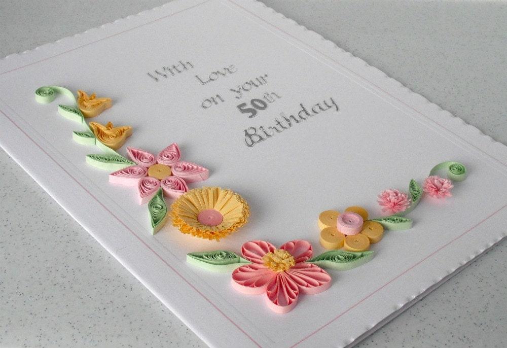 Квиллинг открытки на день рождения парню