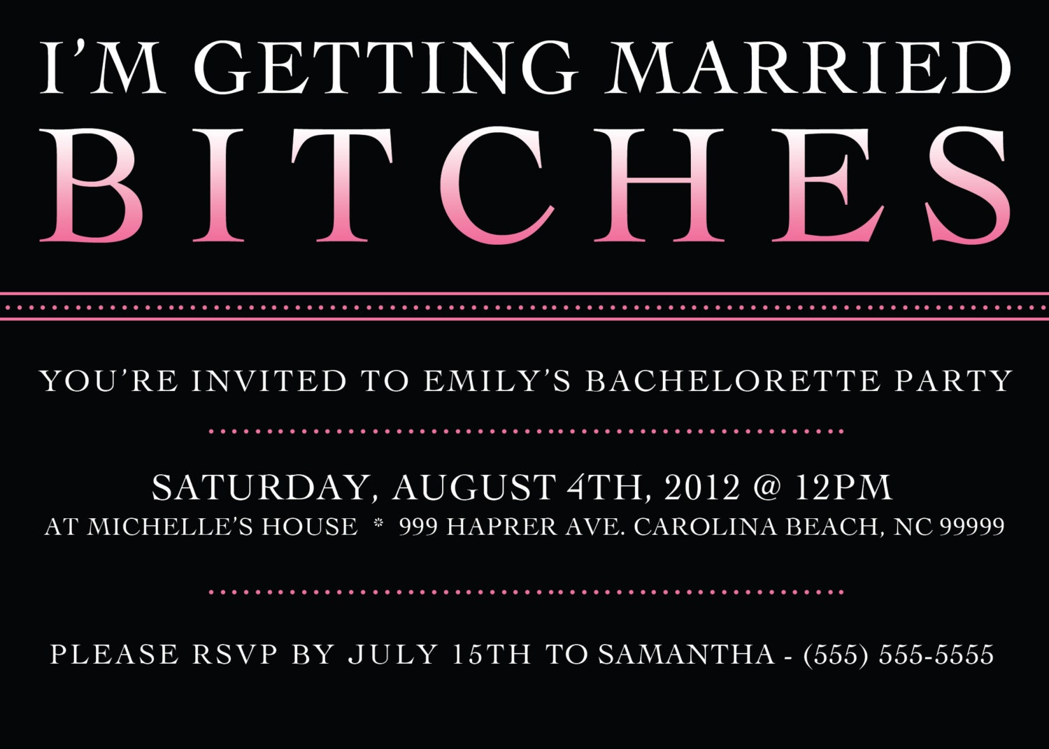 Etsy Bachelorette Party Invitations - Free Printable Invitation ...