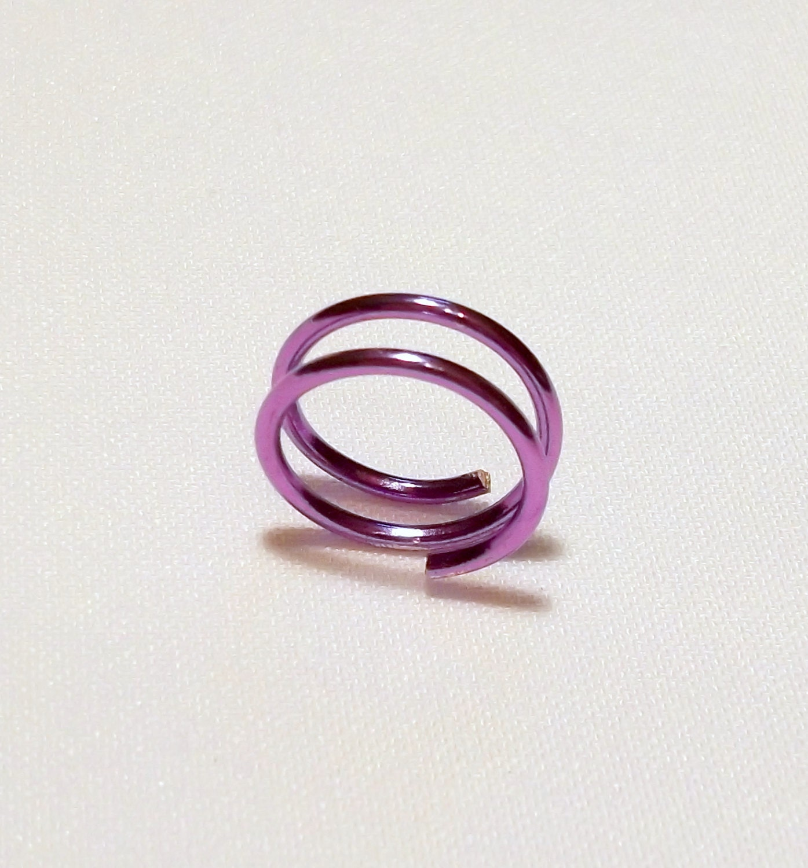Rare Metallic Purple Infinity Toe Ring - TheSterlingCat