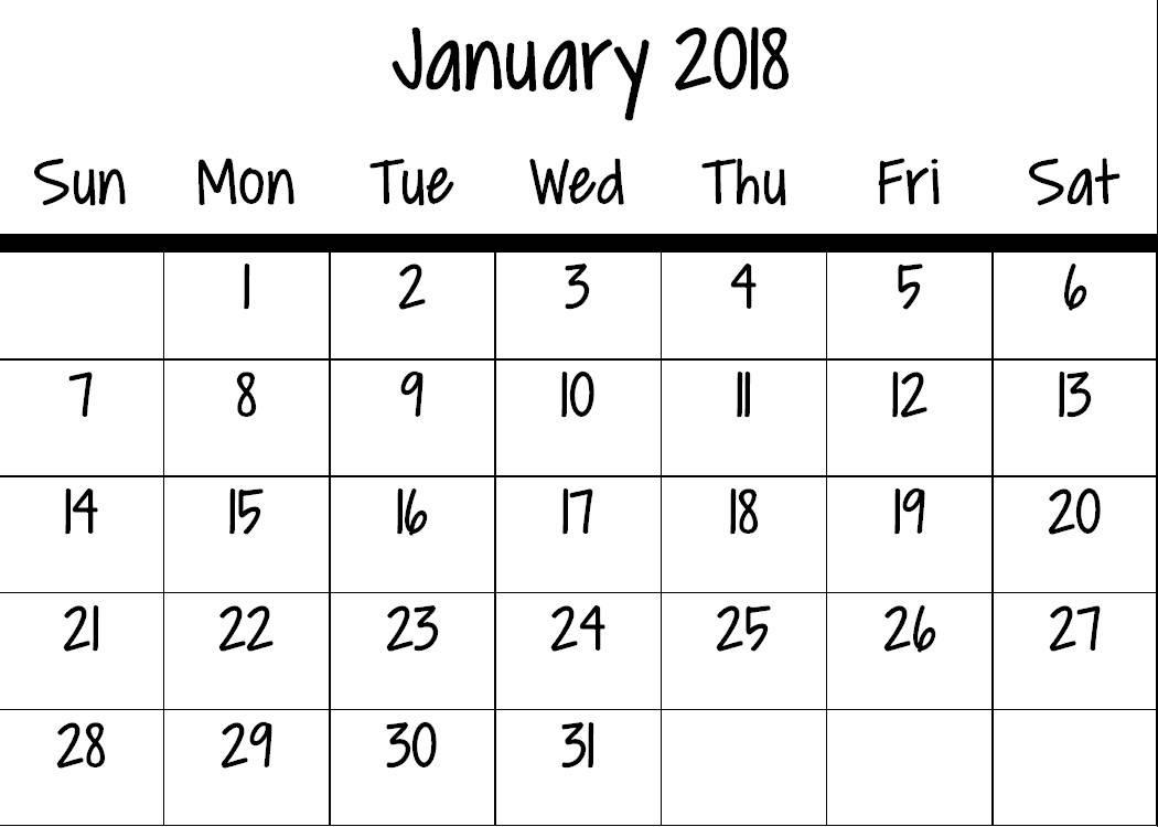 2018 Mini Calendar Digital Download Grace 3.75 x 2.75