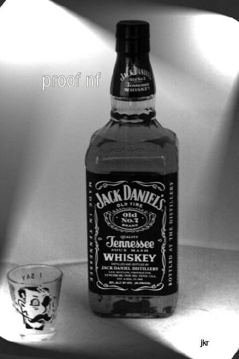 Black jack daniels glass
