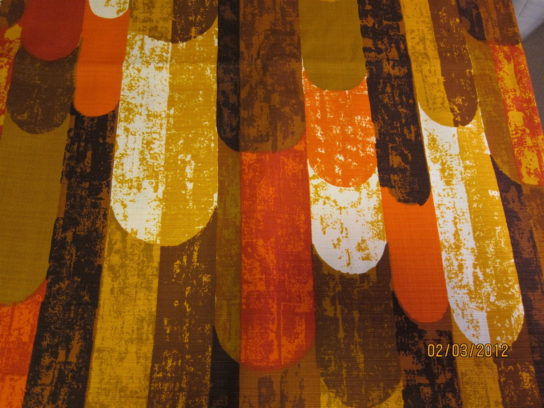Retro Vintage Barkcloth Era Fabric Mid By Atomiclivinvintage