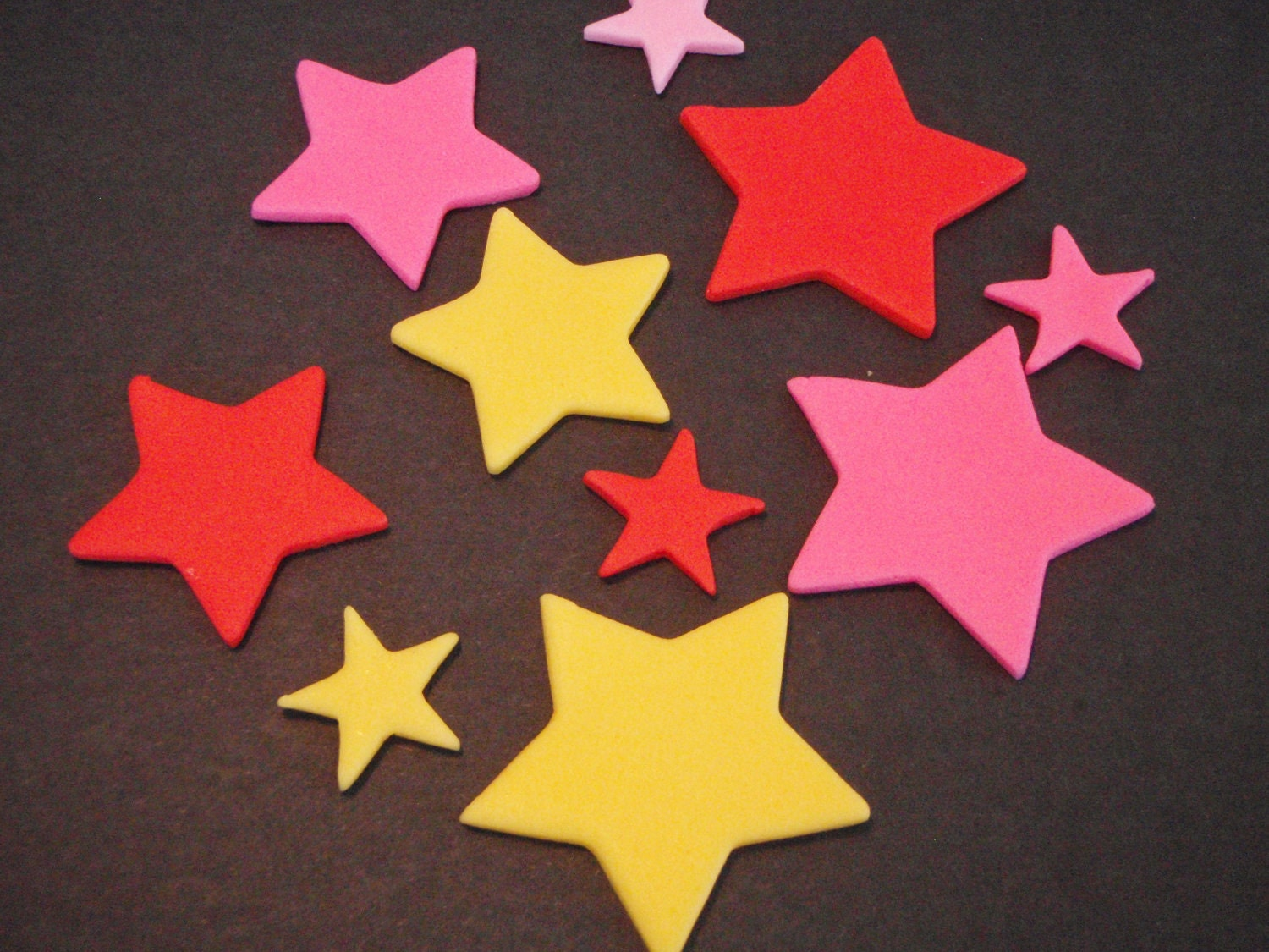 Edible Cake Decorations Stars : Edible Fondant Stars for Cupcake Toppers or by ...