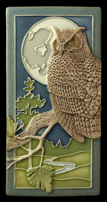 Ceramic tile animal art bird art home decor by