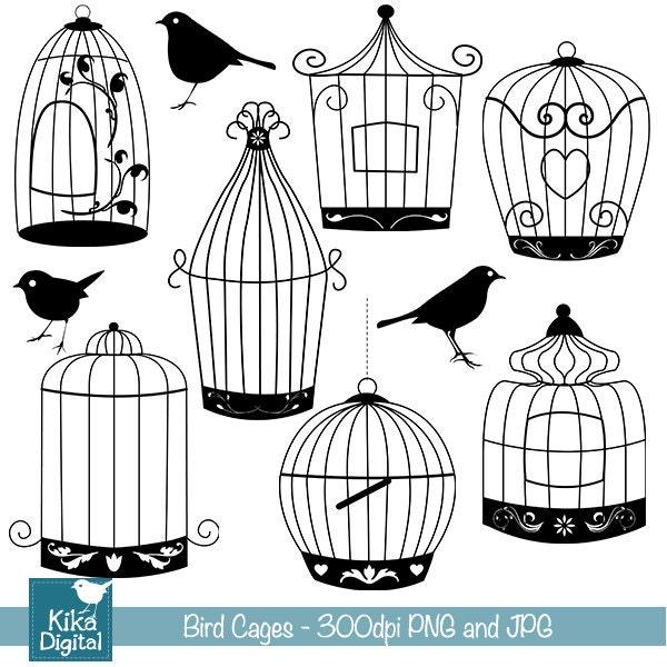 Open Birdcage Silhouette Open Birdcage S...