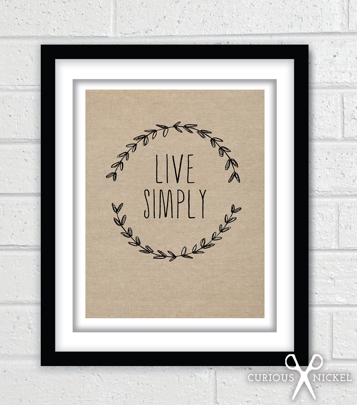 Live simply simple chic poster print modern by for Live simply wall art