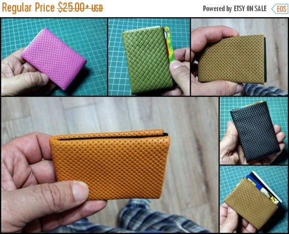 SALE 20 OFF Limited Edition NERO Wallet  Nappa Leather Wallet  Slim Mens Wallet Womens Wallet Minimalist Wallet Rfid Blocking Perfect G