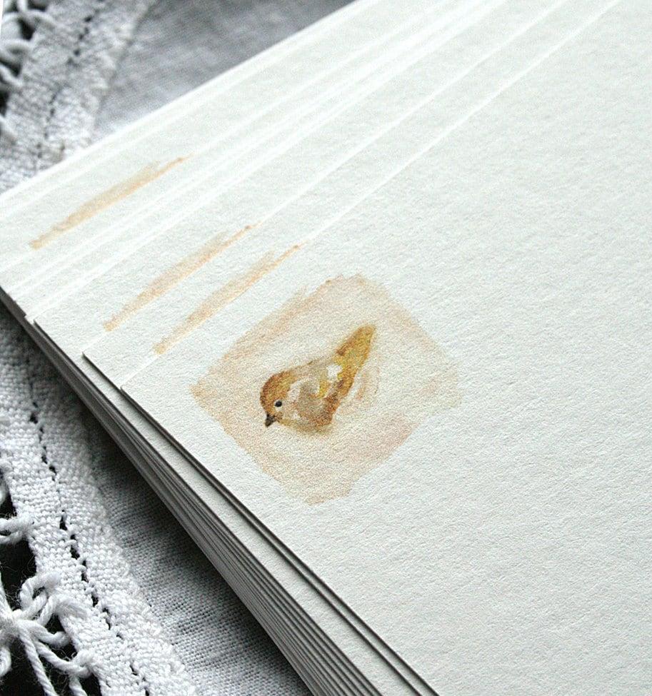 Recipe Cards - Bird, eco-friendly, blank, handmade - reneeanne