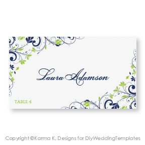 Wedding place card template download by diyweddingtemplates for Tent cards staples