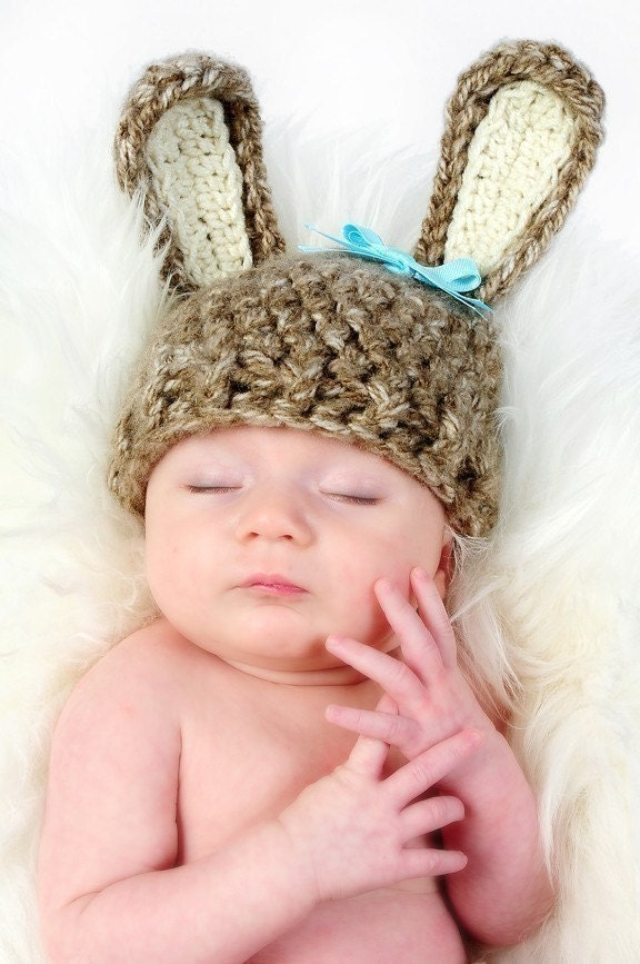 Infant bunny hat.