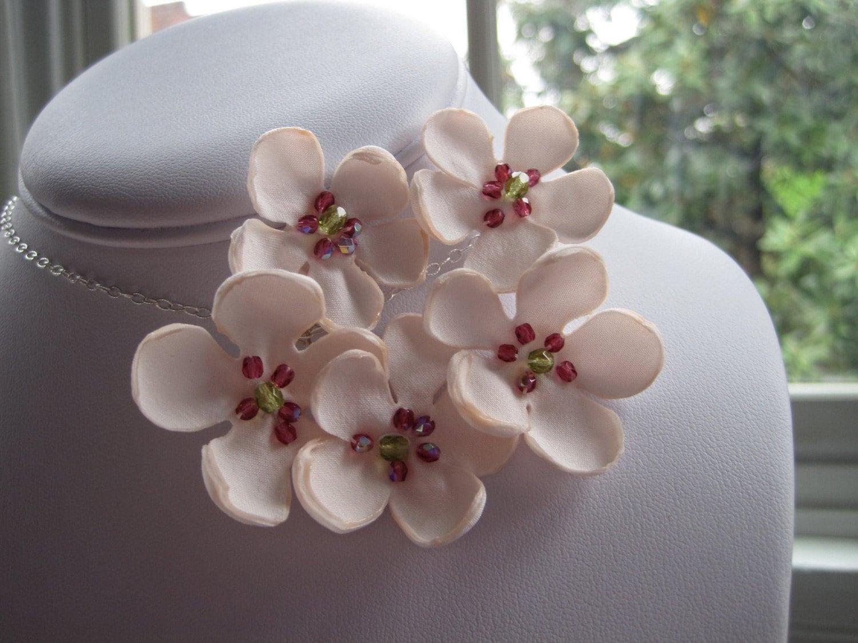 SAKURA - cherry blossom necklace