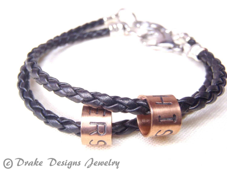 Couples Bracelet Matching Couple By Drakedesignsjewelry