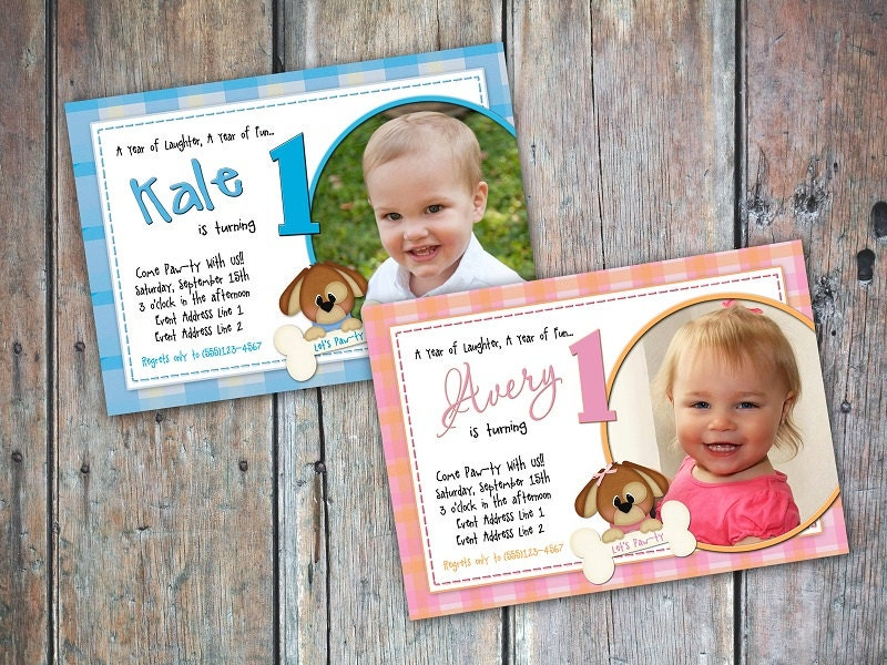 Playful Lil Puppy Birthday Invitation - FEDigitalCreations