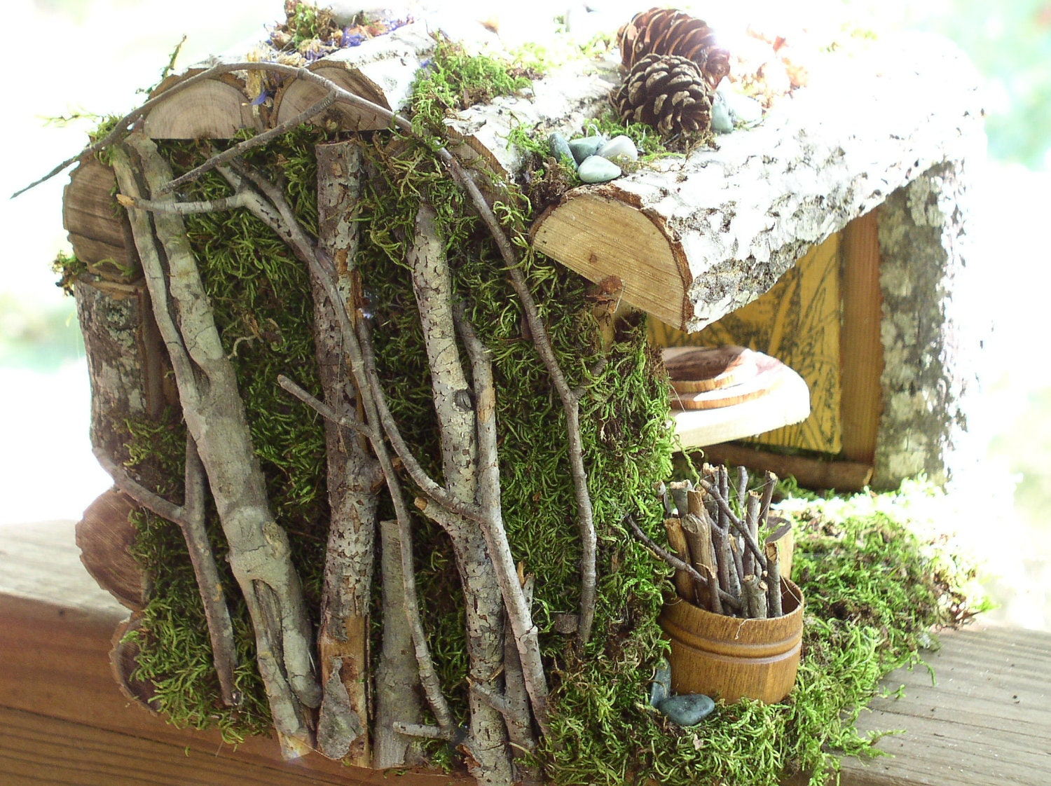 Woodland Fairy House Mountain Cabin Retreat Cottage Enchanted Forest Fairy Furniture