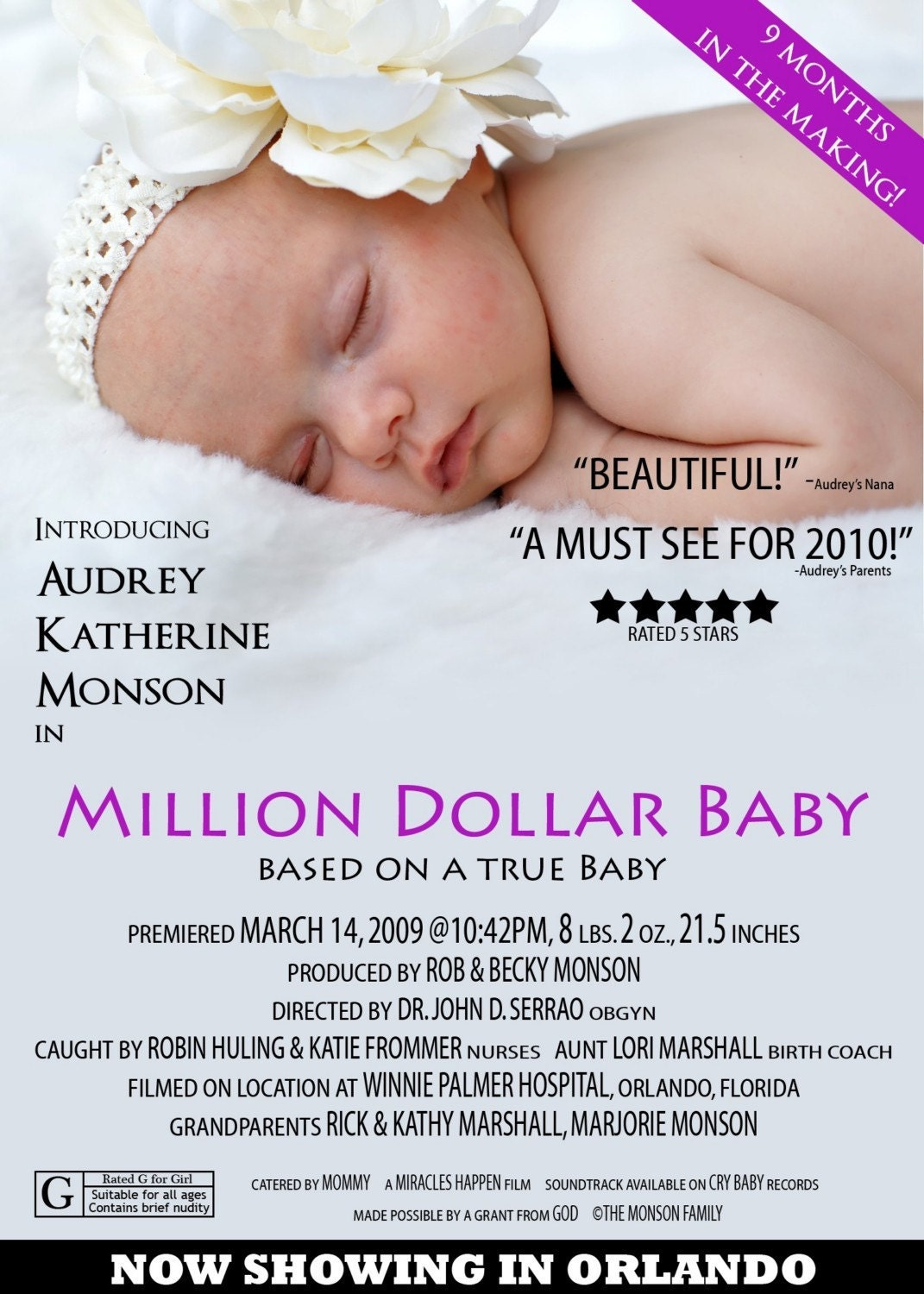 Movie Poster Birth Announcement  YouTube