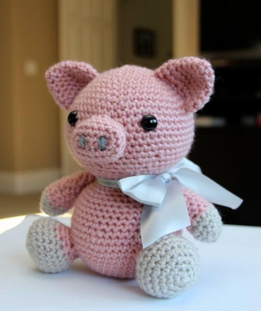 Amigurumi Crochet Pattern Hamlet the Pig by littlemuggles ...