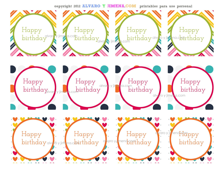 Happy Birthday Cupcake Toppers Printables ~ Items similar to happy birthday cupcake toppers or party circles digital printable favor tags