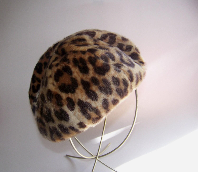 1950's Leopard Beret/Hat