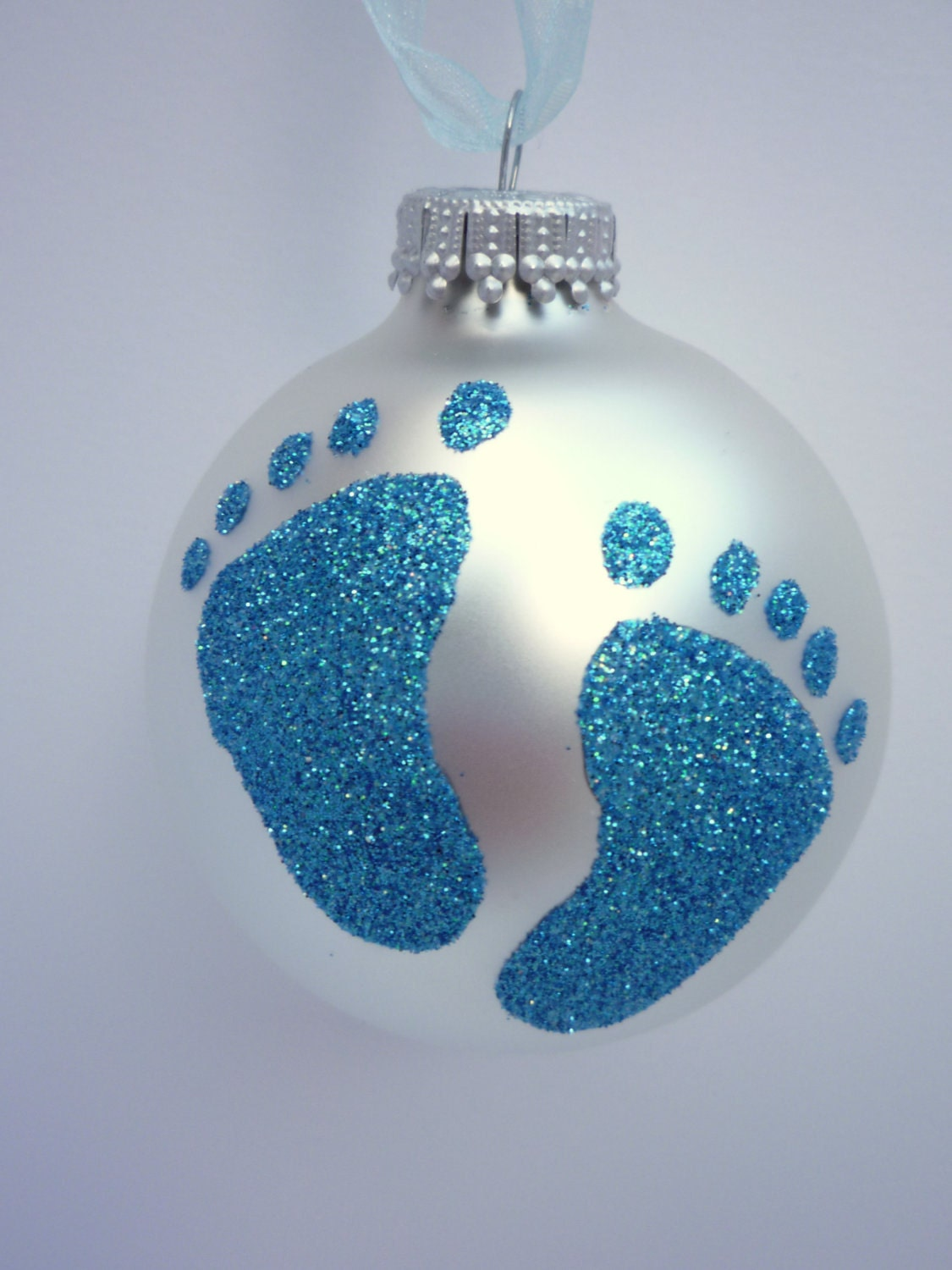 Homemade Christmas Ornaments For Babies : Items similar to baby boy shower and gender reveal glitter
