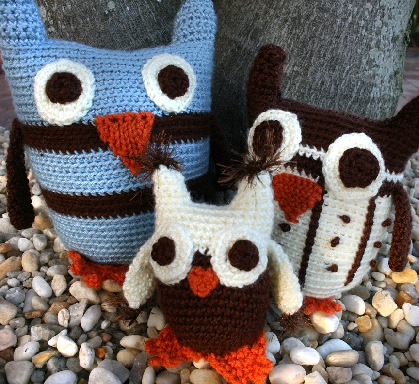 Little Owl Family Trio