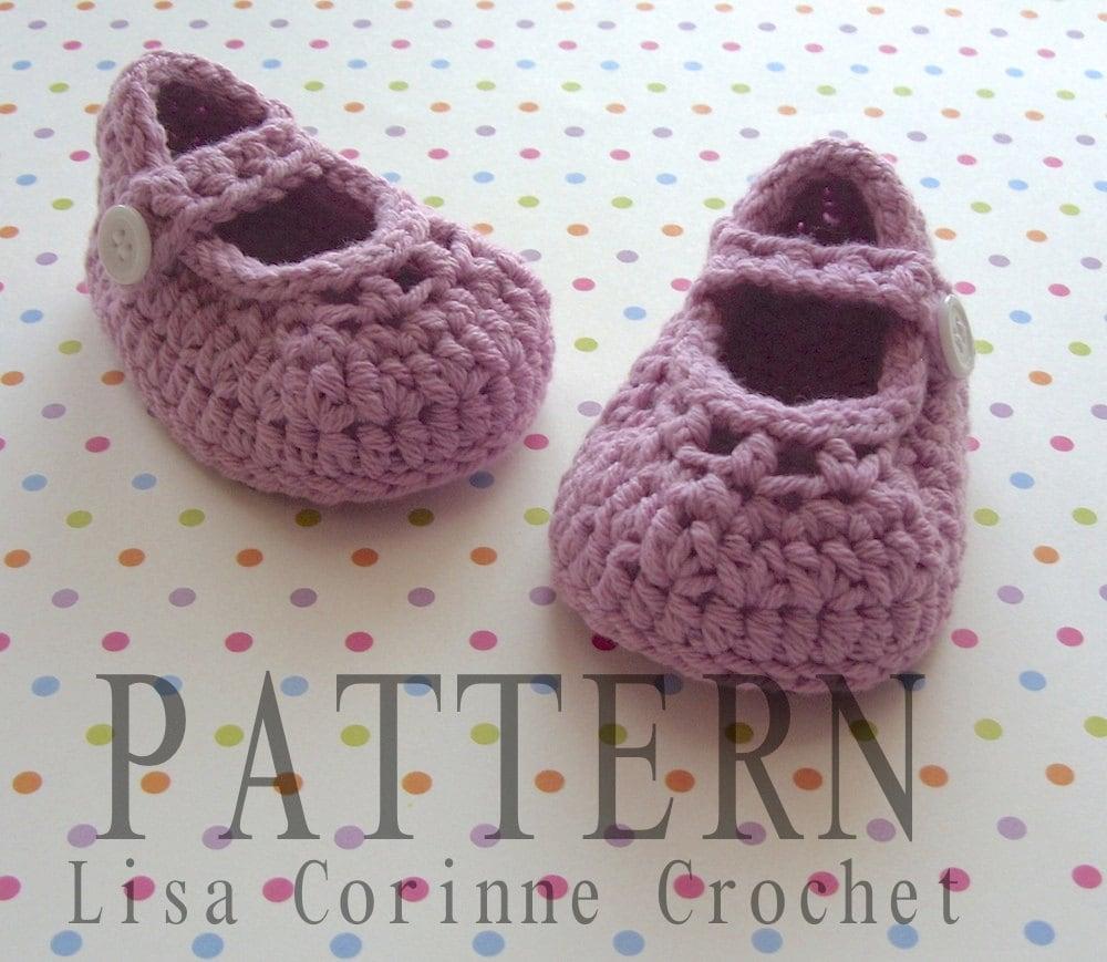 Crochet Baby Shoes Mary Jane Pattern : Crochet Baby Booties PATTERN Crochet Baby by ...