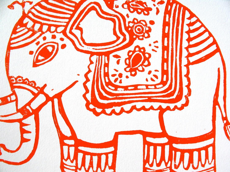Indian art patterns elephants