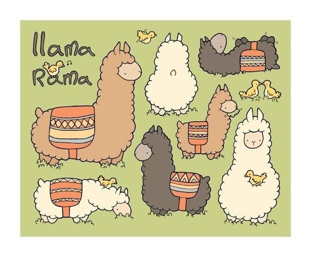 8x10 Print - Llamarama