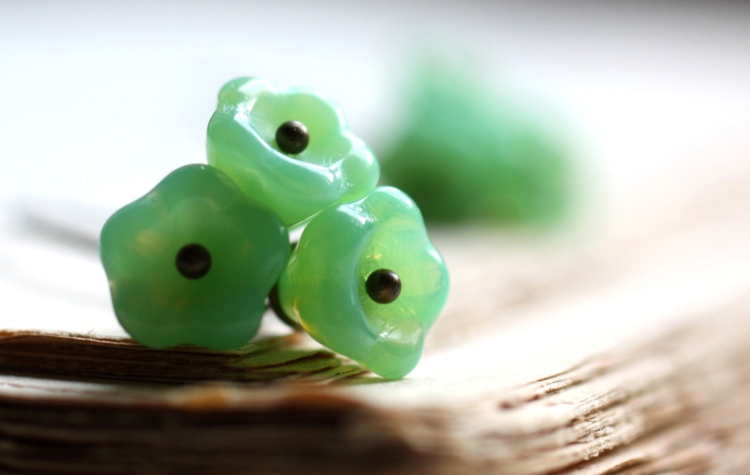 Bloom Earrings. Mint Green Flowers
