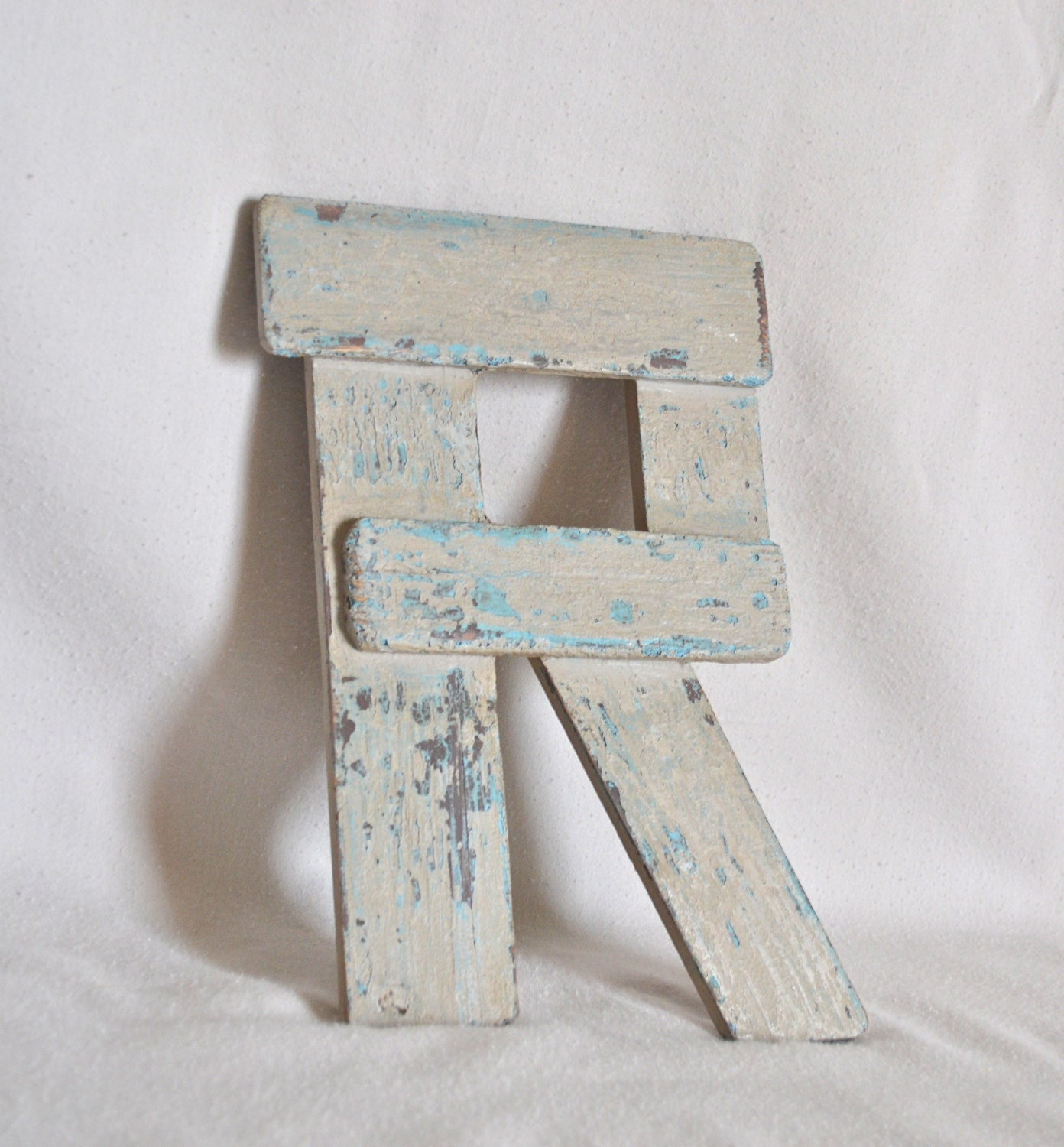 "Items similar to Wooden Shabby Chic Letter ""R"" on Etsy"