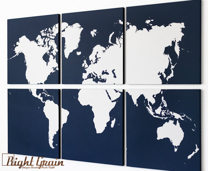 large world map wall art modern painting home decor by