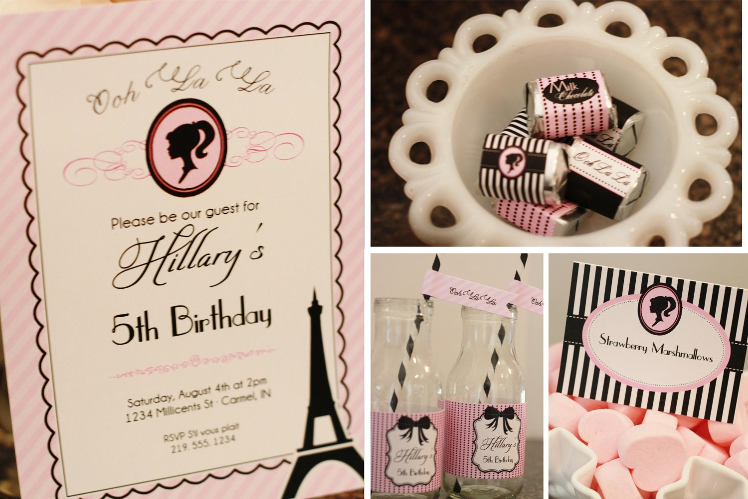 Fashion Fairytale in Paris Printable Party Collection - Invites ...