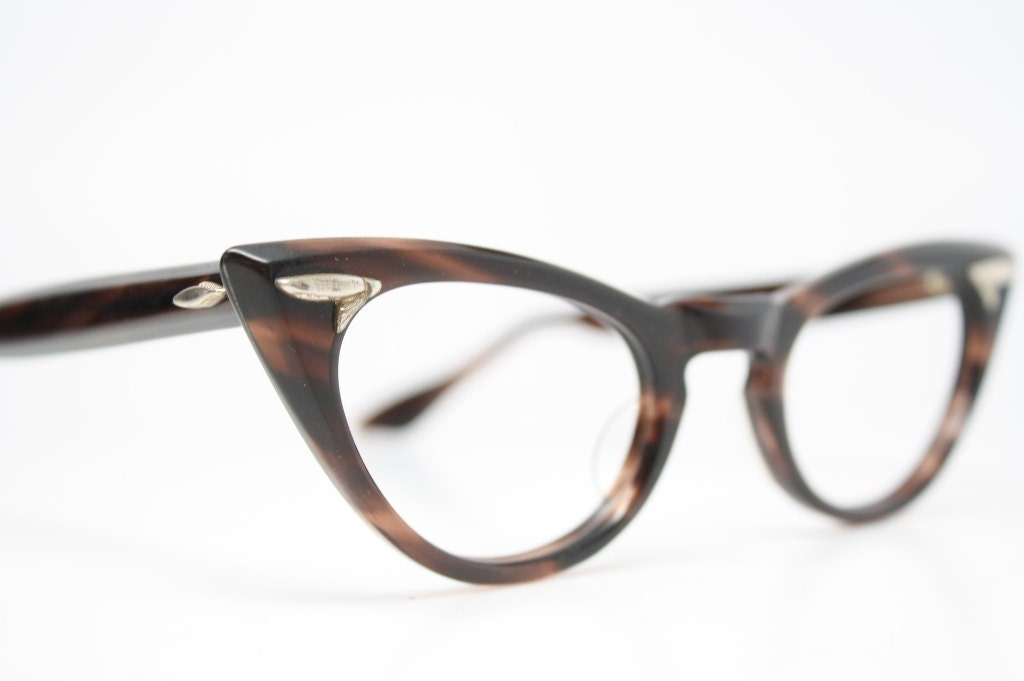 Cateye Glasses Brown NOS Cat eye glasses by VintageOpticalShop