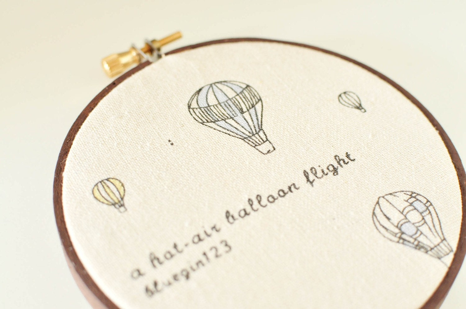 Hot Air Balloon Ride - Embroidery Home Decor