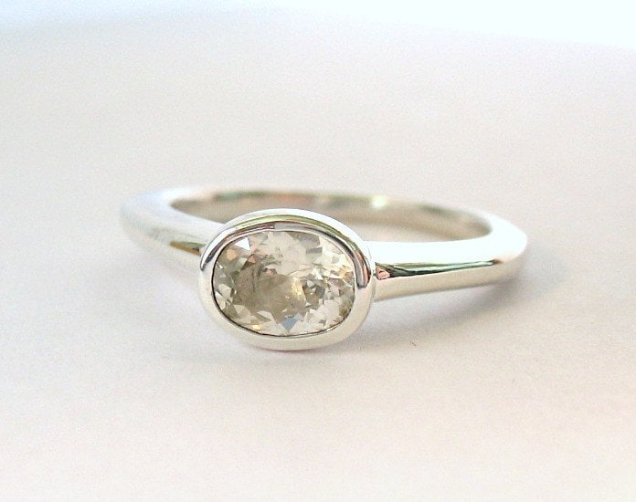 simple sapphire ring by chenry on etsy