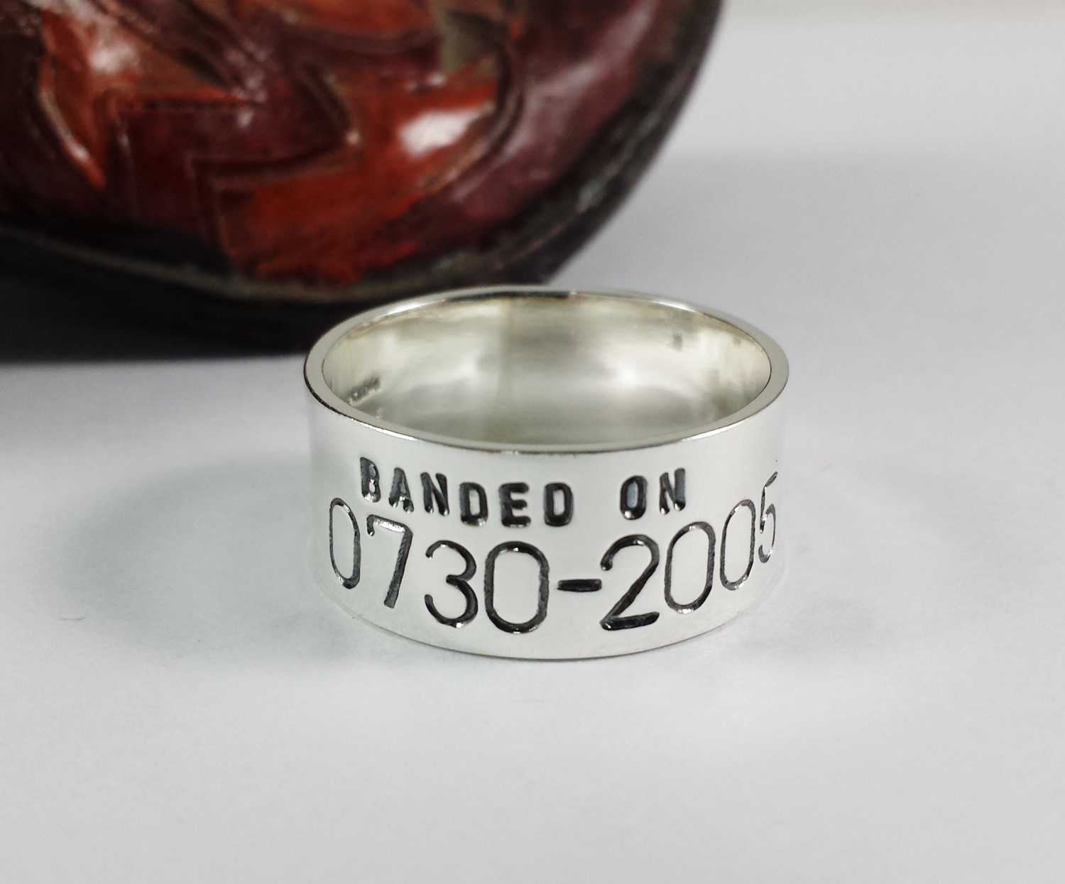 custom personalized duck band ring wedding by