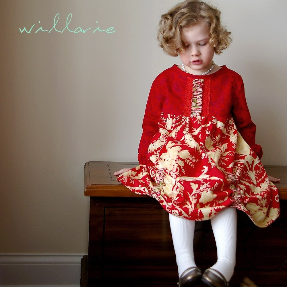Holiday in Red - Size 4 Ready to Ship Dress