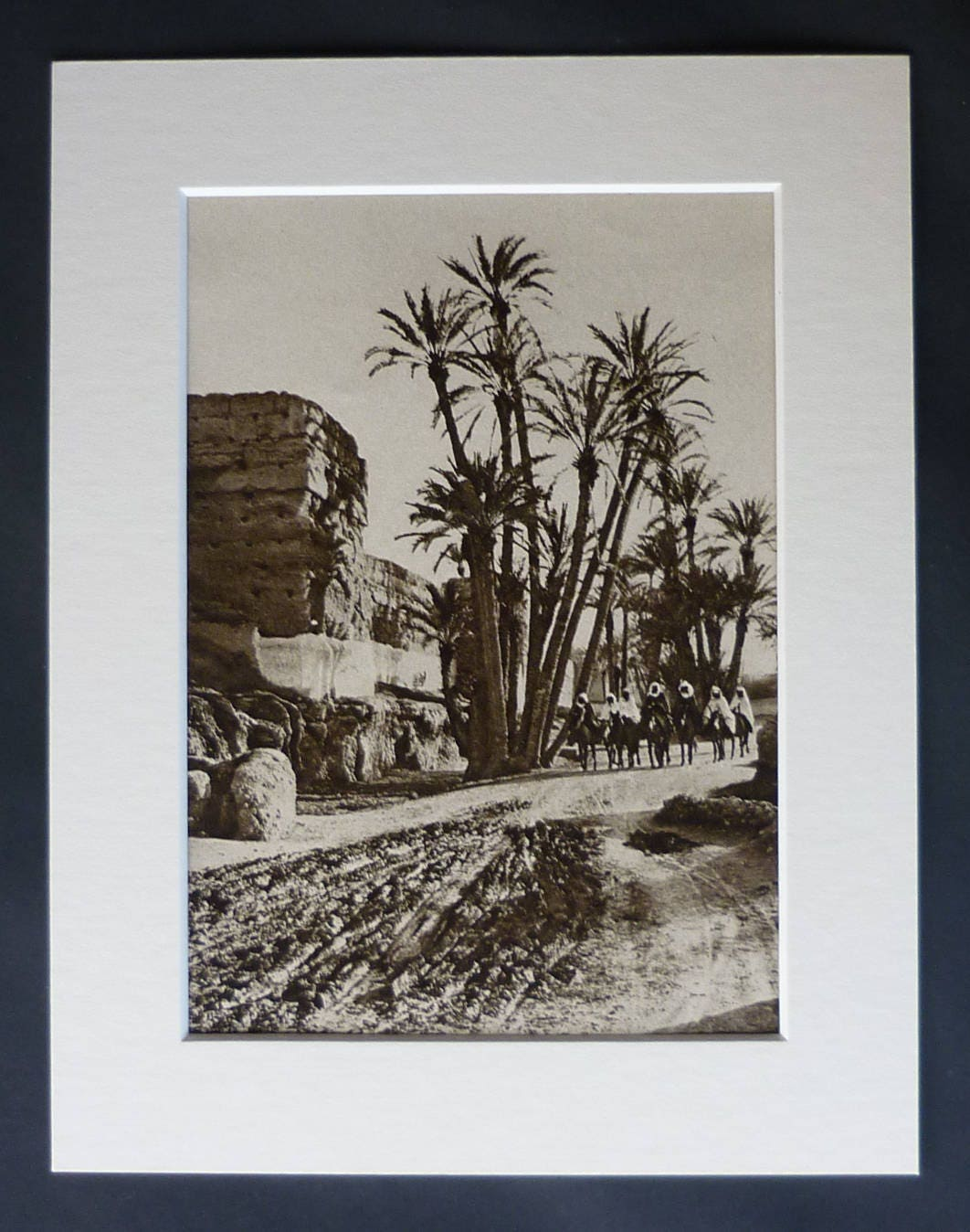 1920s Antique Morocco Print Available Framed Medina Art Marrakesh Walls Decor Old Moroccan Gift North African Picture Marrakech Photo