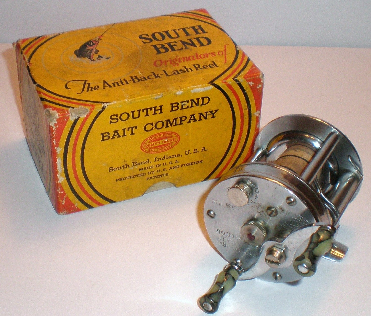 South bend vintage fishing reel model no 550 c by robertstore for South bend fishing reel