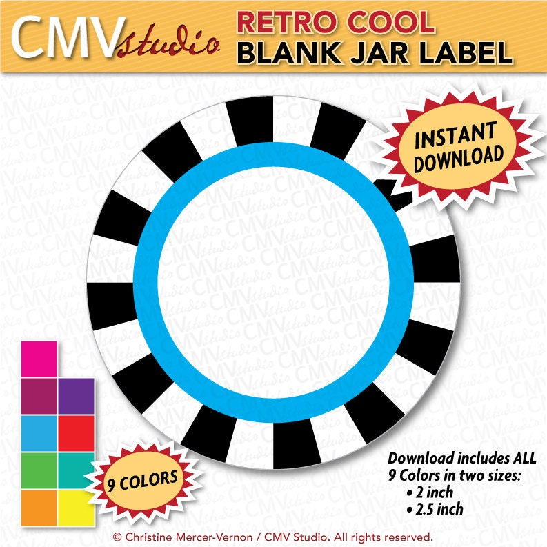 make your own printable blank canning jar labels by cmvstudio